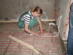 Монтаж электрического теплого пола в Батайске. электрический теплый пол